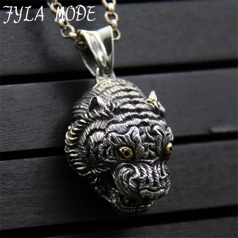 2017 Hot Sale Jewelry Animal Tiger Shaped Necklaces Pendant Tiger Head Charms For Women Drop Shipping 28*39MM 42.50G PBG0702017 Hot Sale Jewelry Animal Tiger Shaped Necklaces Pendant Tiger Head Charms For Women Drop Shipping 28*39MM 42.50G PBG070