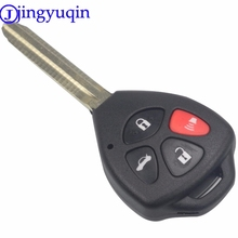 jingyuqin 4 Buttons Remote Car Key Shell Case Cover Fob Replacement For Toyota Camry Avalon Corolla Matrix RAV4 Venza Yaris 3+1