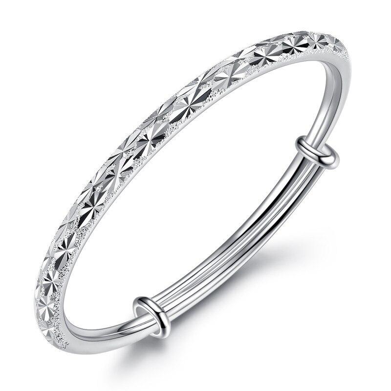 Mode Simple et élégant bracelet 999 bijoux en argent sterling minuscules étoiles bracelet pour femmes MenFree expédition