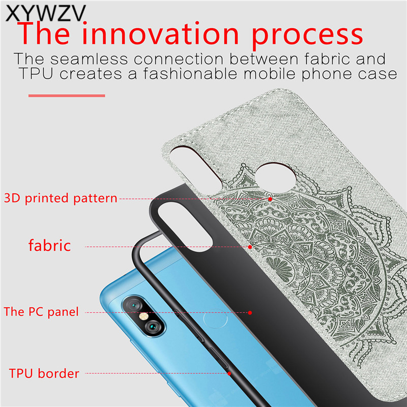 Image 3 - Xiaomi Redmi Note 6 Pro Shockproof Soft TPU Silicone Cloth Texture Hard PC Phone Case Redmi Note 6 Pro Cover Redmi Note 6 Pro-in Fitted Cases from Cellphones & Telecommunications