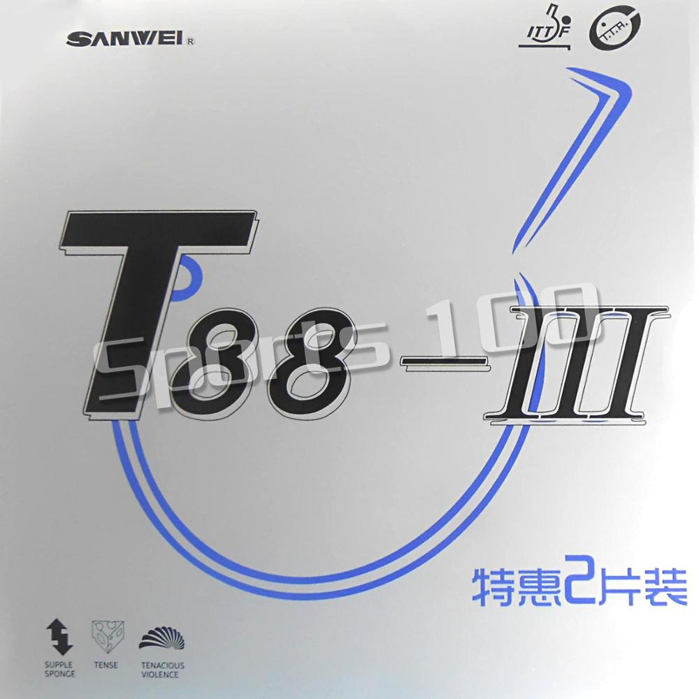 2 Pcs Sanwei T88-III Pips-In Table Tennis PingPong Rubber With Sponge