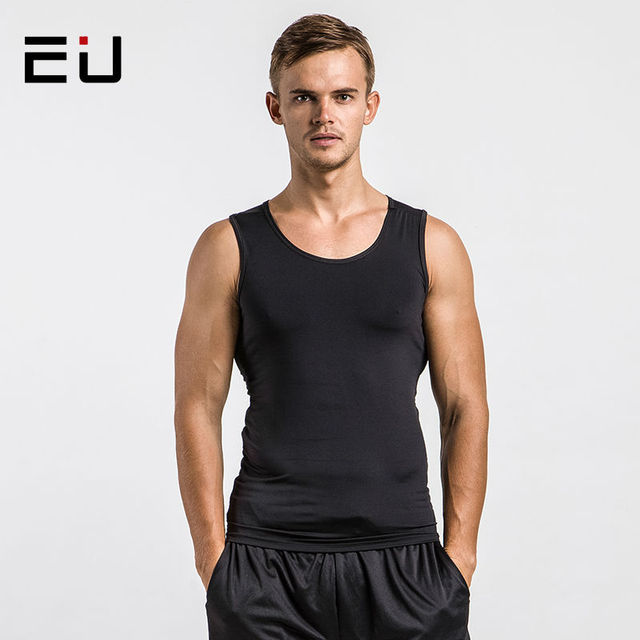 4c0c6eb21e96bc EU Men s Running Vest Workout Compression Tank Tops Men Quick Dry Sleeveless  Running Shirts Men Gym Fitness Sport Shirts Vest