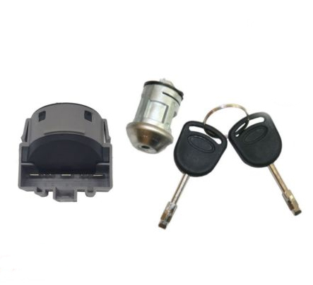 IGNITION STARTER SWITCH IGNITION LOCK BARREL WITH 2 KEYS FOR FORD TRANSIT MK6 2000-2006 C-MAX B-MAX FIESTA FOCUS S-MAX car electric window toggle switch front for ford transit mk6 2000 2006