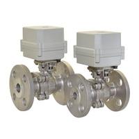 BSP/NPT 1/2 , 3/4, 1 AC/DC 9 ~ 24 V 2 way SS304 фланец моторизованный шаровой клапан