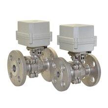 BSP/NPT 1/2,3/4,1 AC/DC 9~35V  2 way SS304  flange electric ball valve globe valve 2 way nc 1 1 4 in f npt