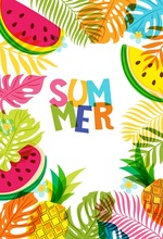 Laeacco Summer Cartoon Watermelon Monstera Leaves Baby Photography Background Customized Photographic Backdrops For Photo Studio laeacco black white stripes green leaves wedding baby photography background customized photographic backdrops for photo studio