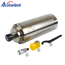 4.5KW Spindle CNC Router Motor 220 380V 8A Machine Tool ER25 Diameter 125mm For Milling Machines