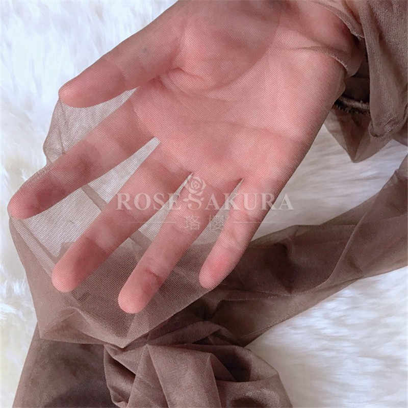 5 stks/partij 0D See Through Crotchless Panty Ultradunne Transparante Open Kruis Panty Medias 1 Lijn Kruis Onzichtbare 0821