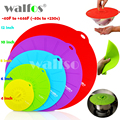 WALFOS 5 pieces Universal Silicone Suction Lid-bowl Pan Cooking Pot Lid Silicone Cover Kitchen Pan Spill Lid Stopper Cover