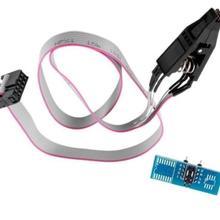 Для SOIC8 SOP8 флэш-чип IC тестовый зажим с SPI кабелем программист биос TL866A/CS