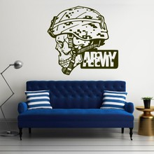 Hot Sale Big Army Military Soldier Skull Camo Decals Man Protrait Popular Wall Mural Home Decorative Vinyl Wallpaper Y-653