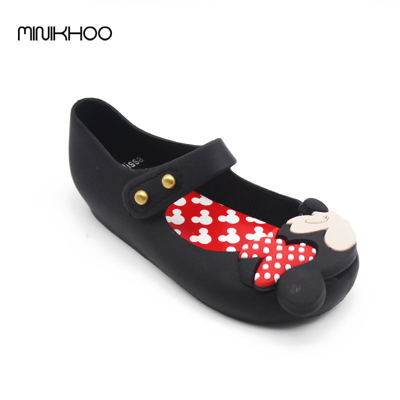 Mini Melissa 2017 Jelly Shoes Sandals Mickey Minnie Plus Size Savory New Shoes Thick Head Mickey