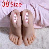 SIZE38 Real skin sex dolls japanese masturbation full silicone life size fake feet model foot fetish toy sexy toys love doll