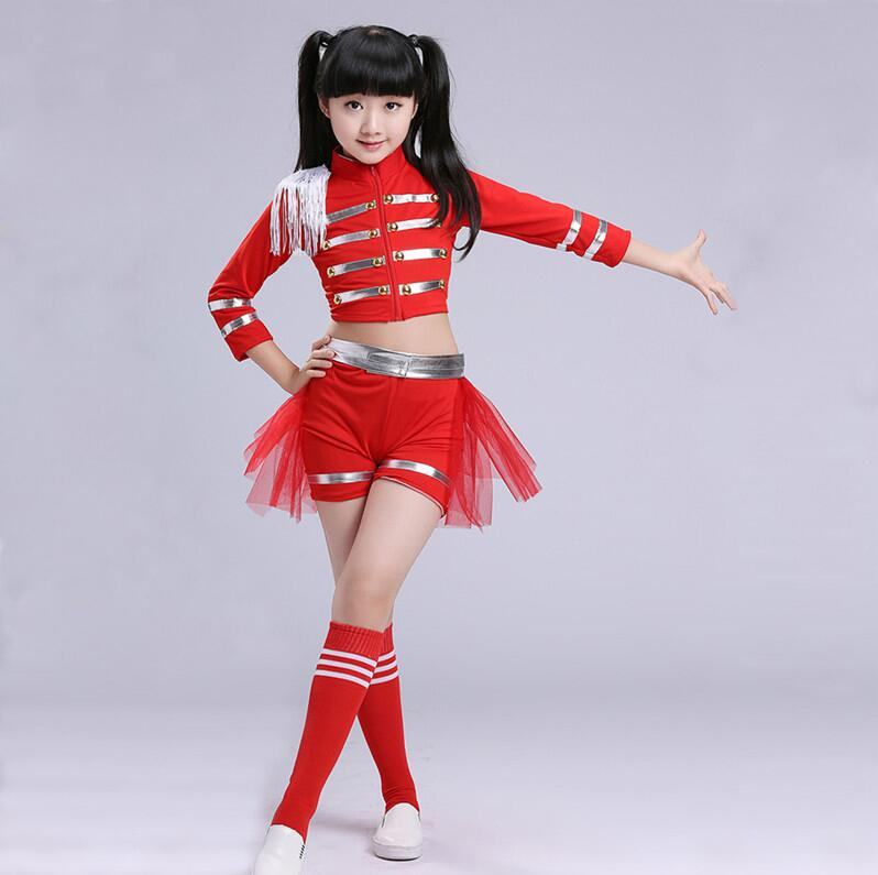 New Children Jazz Dance Modern Dance Costume Fashion Kids Latin Ballroom Dancing Dress Stage Show Dresses Jazz Costumes For Girl