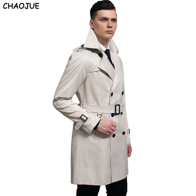 Chaojue Long Manteau Noir Printemps Trench Mens Moyen Mode 2017 wrX1EFwqOx