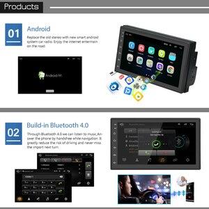 Image 2 - Podofo androidのカーラジオマルチメディアプレーヤー 2 din 7 タッチスクリーンautoradio bluetooth fm wifi aux 2DIN gpsオーディオプレーヤーステレオ