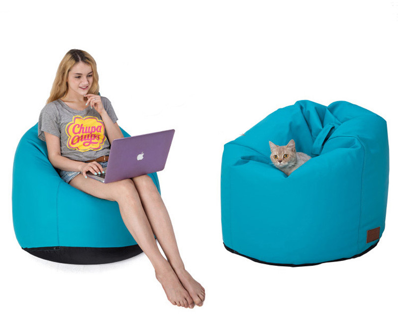Teal Bean Bag Chair Recliner Swivel Adult Bags Beanbag Not Included Filling Size 70dx110hcm Waterproof Pvc Cover Sales