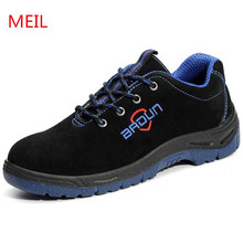Купить с кэшбэком Unisex S3 Safety Shoes Steel Toe Work Shoes Men Insulation 6 Kv Electrician Professional Protective Safety Boots Plus Size 46
