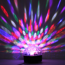 6W RGB LED MP3 Crystal Magic Ball Stage Effect Light Club Party Lamp DJ Club Disco Party Lighting Music U-Disk SD Remote Control