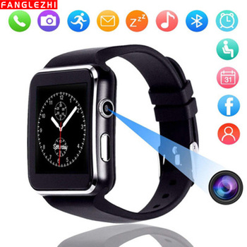 New Smart Watch Curved Screen X6 Smart Bracelet SIM Card Dual Mode 0.3MP Camera  TF Sleep Monitoring Support Android IOS