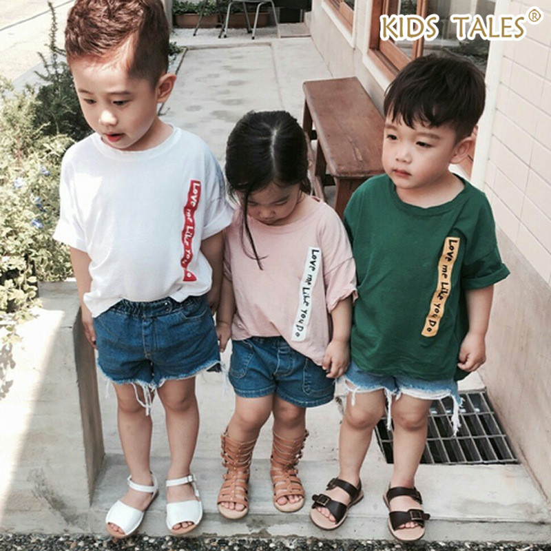 Newborn Baby Boy Clothes Baby Girl Summer Clothes Children Cotton tshirt Short Sleeve kids clothes summer top t shirts For Girls