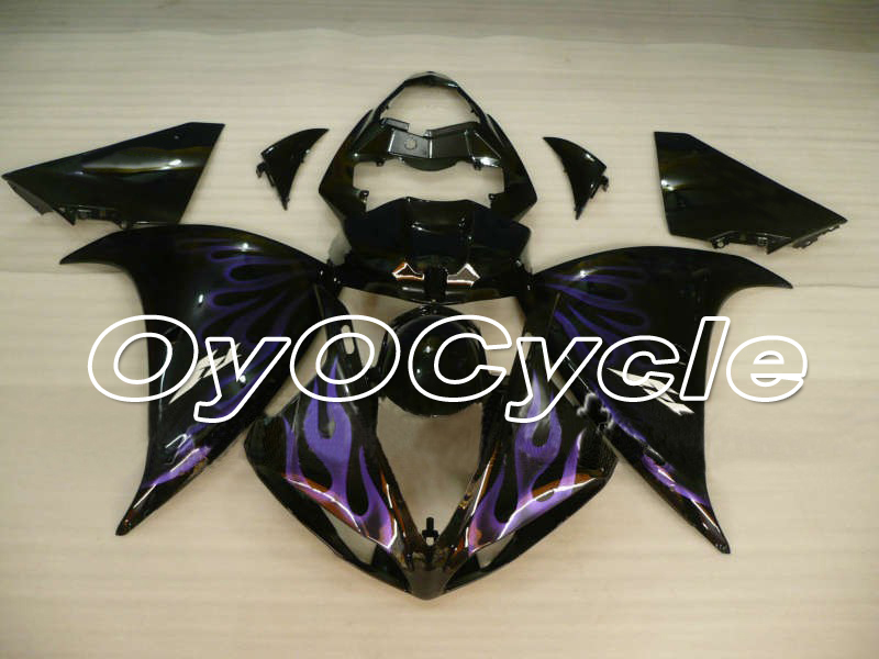 For Yamaha 09 12 YZFR1 YZF R1 YZF R1 Motorcycle Fairing Bodywork Kit ABS Plastic Injection 2009 2010 2011 2012 Black