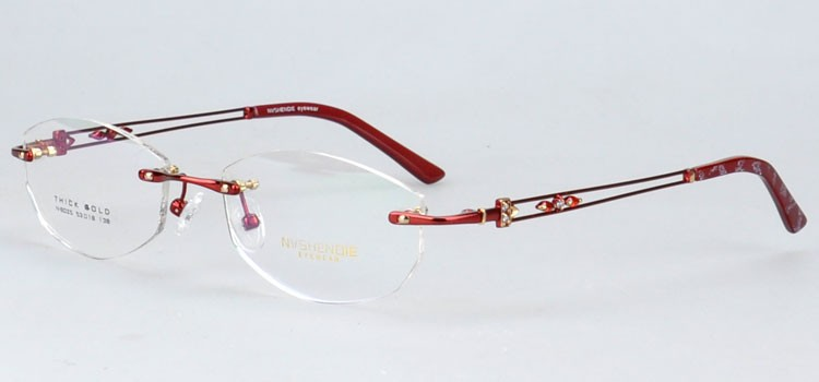 n8025hong phantom optical eyewear frame with stylish temple