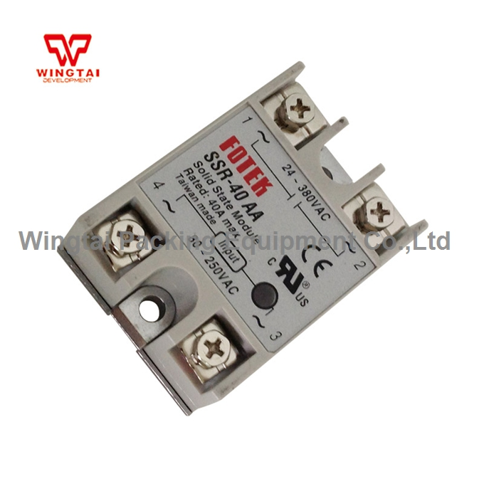 SSR-40AA, SSR-40AA-H High Power 40A TAIWAN FOTEK Solid State Relay Module normally open single phase solid state relay ssr mgr 1 d48120 120a control dc ac 24 480v