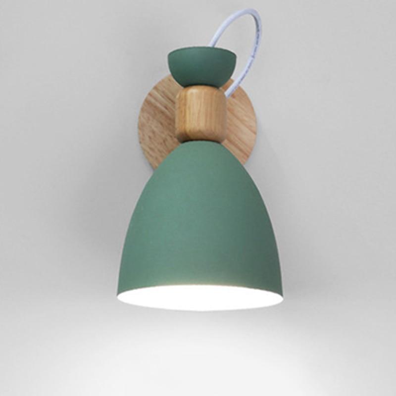 Nordic indoor wall mounted lights iron wood decorative ... on Wall Mounted Decorative Lights id=84548