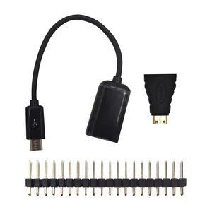 Image 4 - Raspberry Pi Zero W Starter Kit+ Acrylic Case + Heat Sink +2 x 20 pin GPIO Header better than Raspberry Pi Zero 1.3