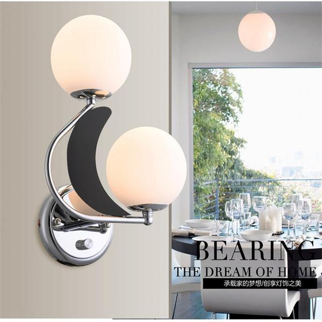 Modern Indoor Two Lights Wall Mounted Led Light Dimmable Sconces Bedroom Living Room