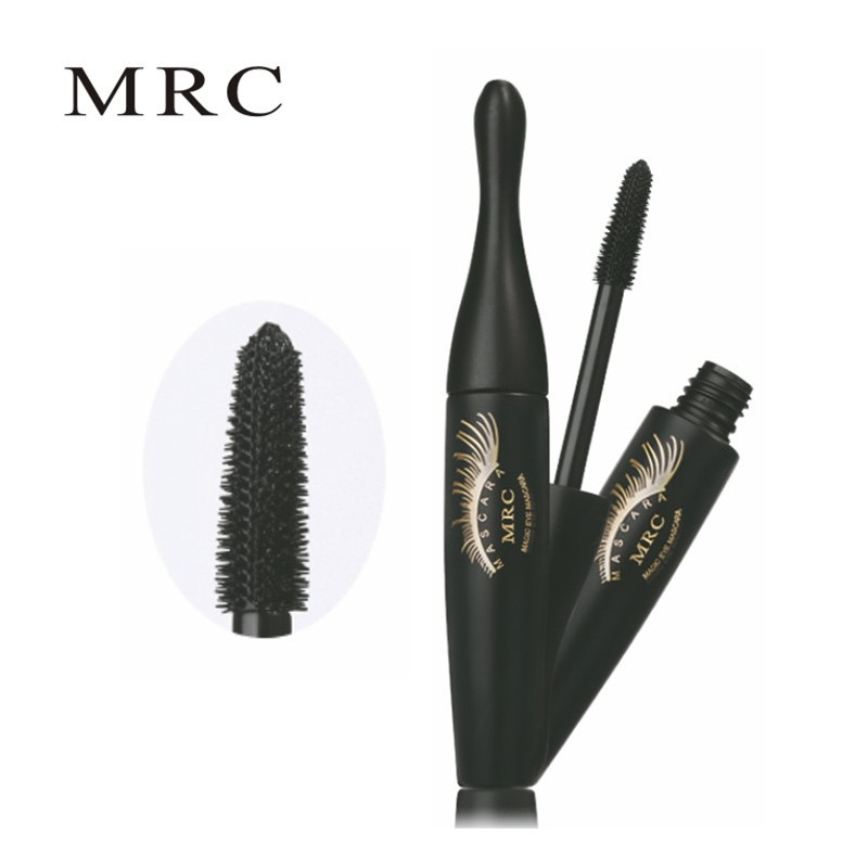 MRC Waterproof 3D Curling Mascara Long Black Volume Eyelashes Extension Brush Makeup Mascara