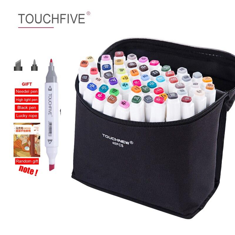 TouchFIVE 60/80/168 couleurs set marqueurs d'art alcool double tête graffiti stylo marqueurs stylo pour Animation Manga Design