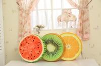 Lovely Cute Fruit Cushion Orange Kiwi Watermelon Pillow Kids Toys Plush Soft Seat Cushion Pillow