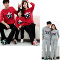 Family sport Star clothing set Mom and daughter me Dad Son mother matching clothes autumn spring Mommy Father outfits suits Red