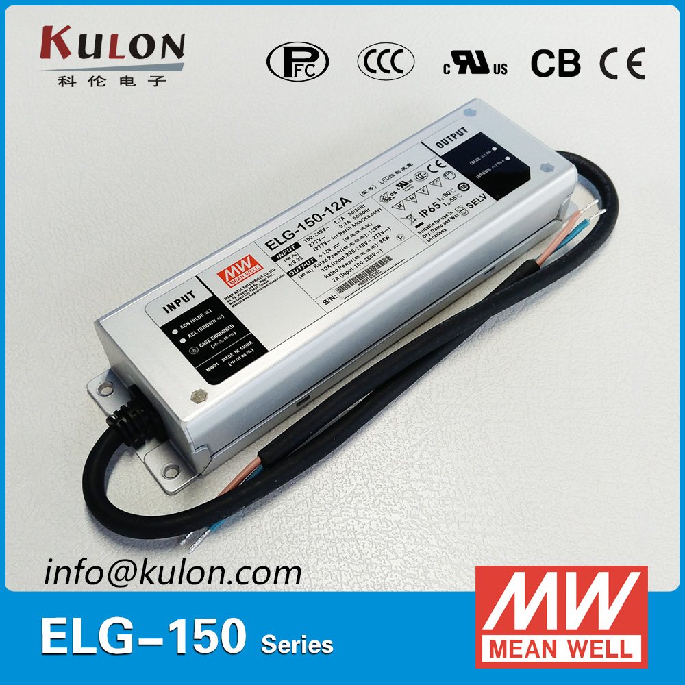 Original MEAN WELL ELG-150-48DA 150W 48V 3.13A IP67 Power Supply Mean well DALI LED driver ELG-150 waterproof original mean well 150w 48v ip67 waterproof led driver clg 150 48 150w 48v 3 2a pfc cable connected meanwell power supply 48v