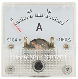 Mini Measure Dc 0-1.5a Analog Amp Current Panel Meter Ammeter Gauge Electrical Instruments Electronics Automatic Control System Fancy Colours Pneumatic Parts Hardware