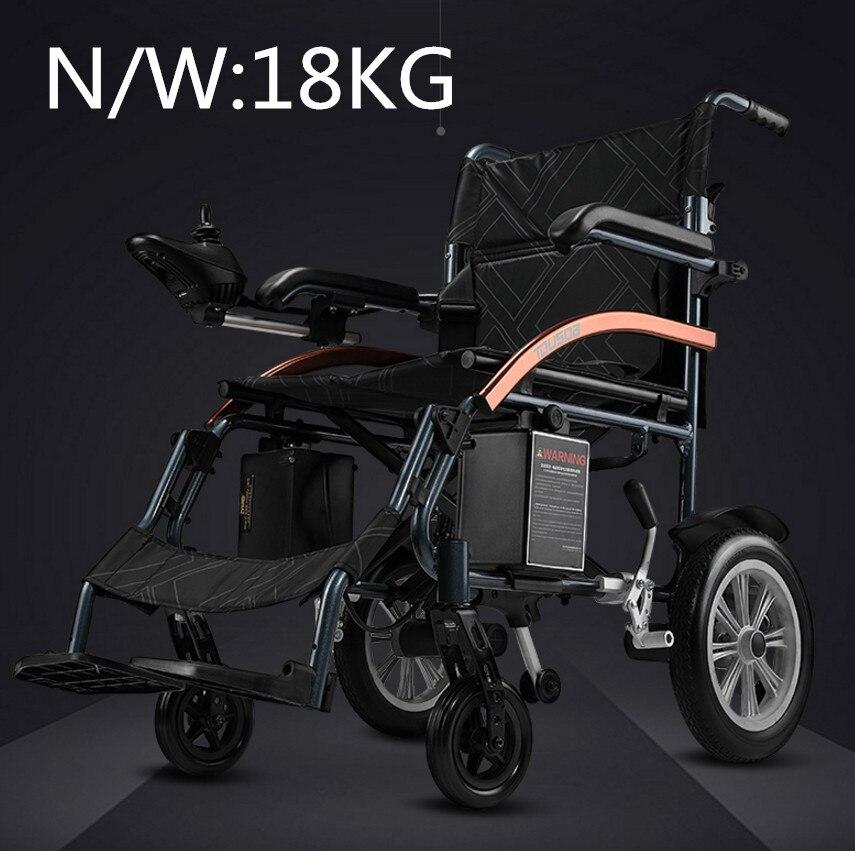 Haute qualité sécurité électrique fauteuil roulant N/W 18 kg climing 20 degrés capacité 120 kg