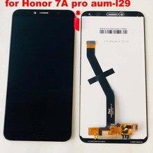 2018 novo 5.7 polegada para huawei honor 7a pro aum l29 AUM L41 display lcd de toque digitador da tela assembléia original lcd + quadro Aum L21