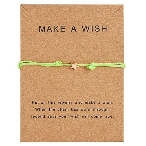 Браслет Wish Card, регулируемый, ручной, плетеный, женский, минималистичный, сердце, корона, круглая нить, Ehthic, браслет, Модные женские ювелирные изделия - Окраска металла: 30
