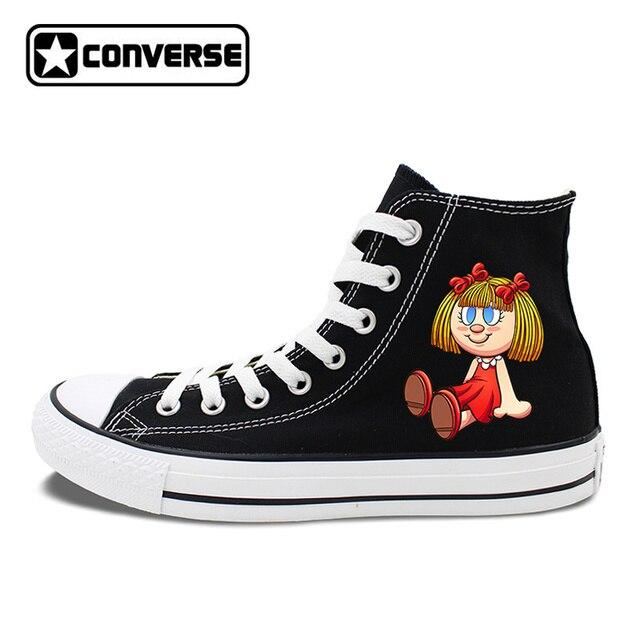 Women's Converse All Star Original Design Doll Toys Bear Toys Hi-Top  Skateboarding Shoes Canvas