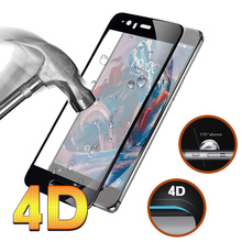 5D Full Cover Tempered Glass For Oneplus 5 Case Round Curved Edge Screen Protector For One Plus 5 Glass One Plus 5 Case Film
