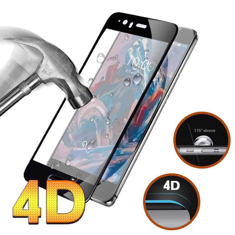 low priced f3299 fcc61 US $5.99 35% OFF|5D Full Cover Tempered Glass For Oneplus 5 Case Round  Curved Edge Screen Protector For One Plus 5 Glass One Plus 5 Case Film-in  Phone ...