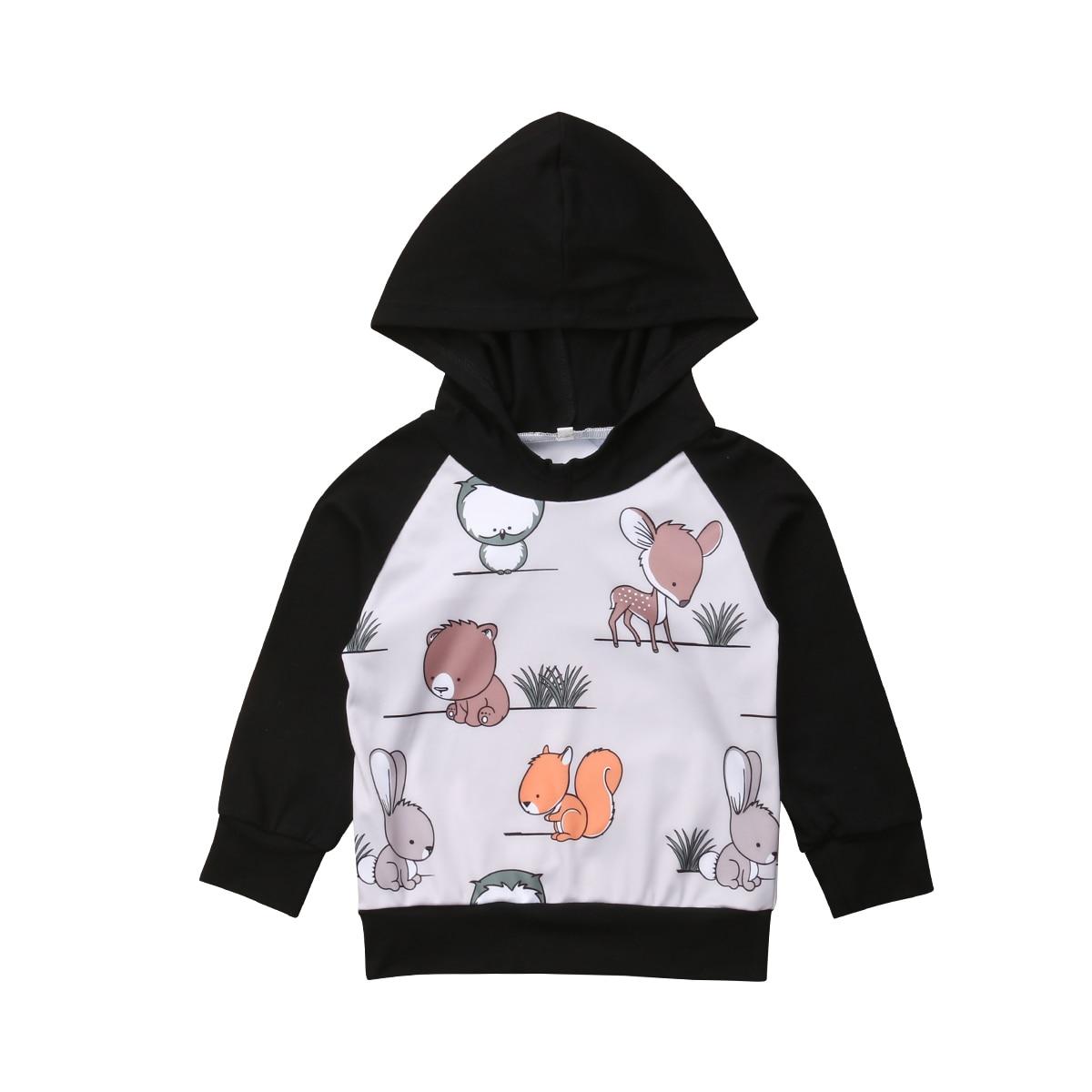 2018 Schöne Neugeborenen Baby Mädchen Kleinkind Warme Baumwolle Mit Kapuze Top Hoodies Kleidung Heiße Neue