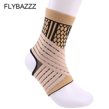 цены FLYBAZZZ High Elastic Bandage Compression Knitting Sports Protector Basketball Soccer Ankle Support Vrace Guard free shipping
