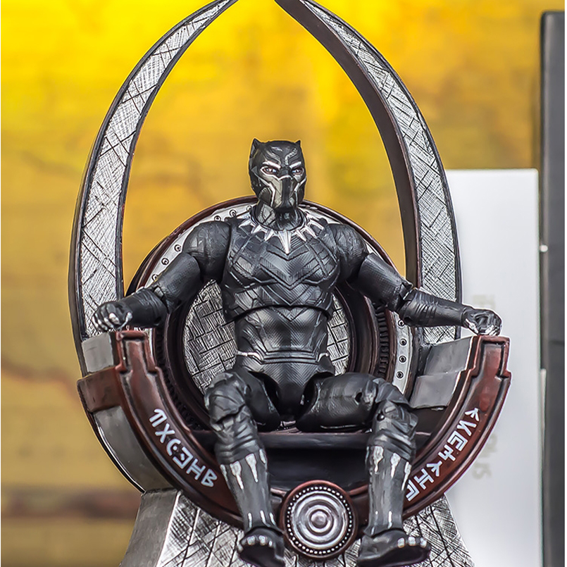 22 CM Wakanda Iron Throne Black Panther Action Figure T'Challa Model Toys Super Hero marveles De Avengers PVC Collection Toy