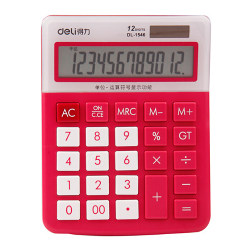 Deli Calculator Lovely Color Computer Tracking Card-bit Display Office Supplies Cheap Chinese Products 20D1546A office electronic graphic calculator counter scientific calculator support image matrix vector sequence equation calculating