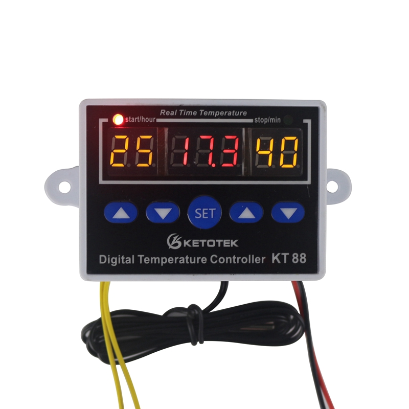 Digital Temperature Controller 12V 24V 220V LED Thermostat Control Switch Module -19~99 C For Incubator NTC Probe Sensor