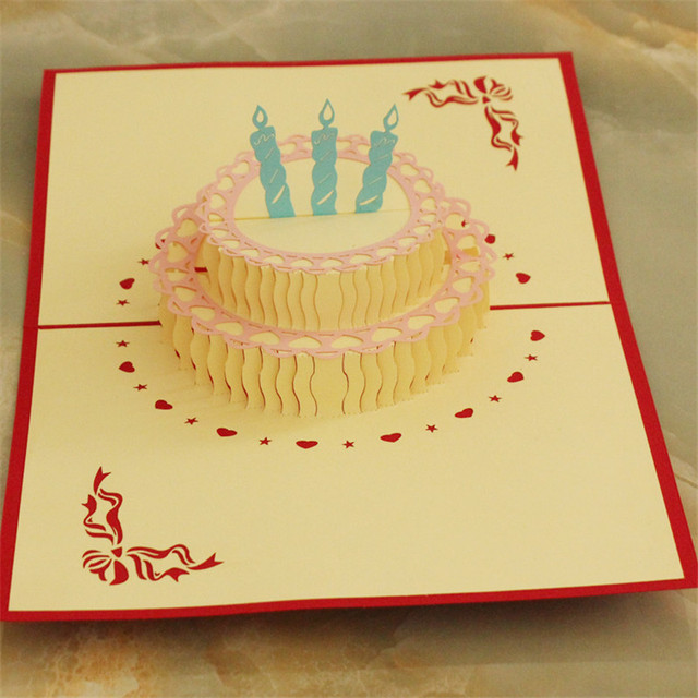 Adicolo Happy Birthday Cake 3d Laser Cut Pop Up Paper Handmade