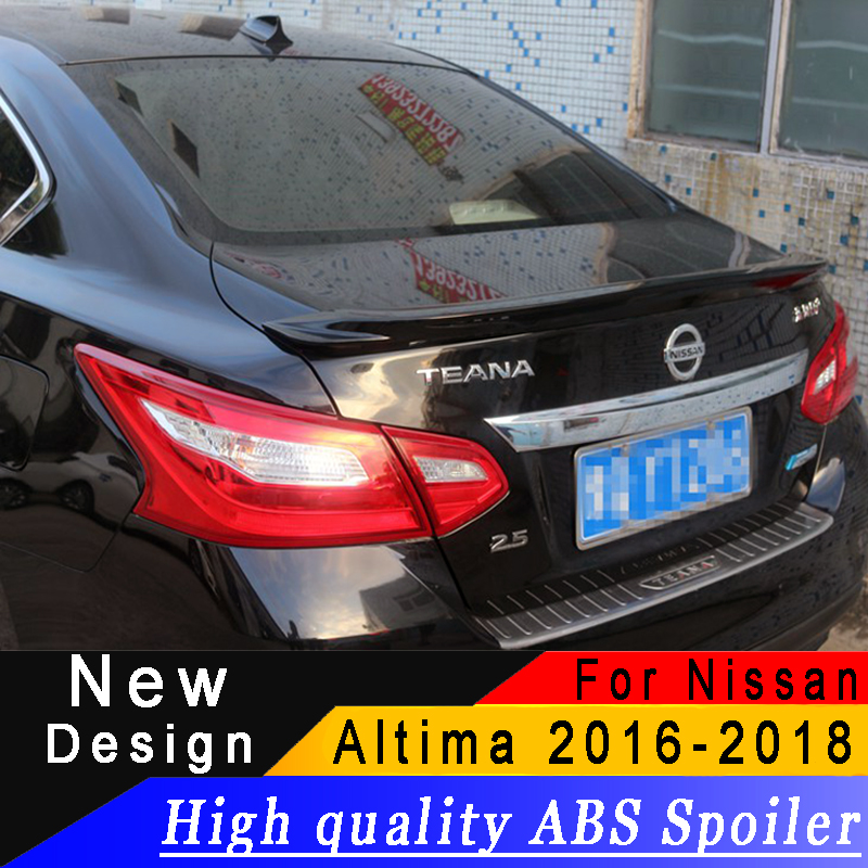 For 2016 to 2017 new Nissan Altima spoiler High quality ABS Material Primer or any color rear wing spoiler for Nissan Altima